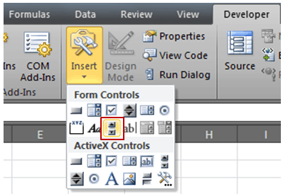 Scroll Bar in Excel- Scroll Bar pic