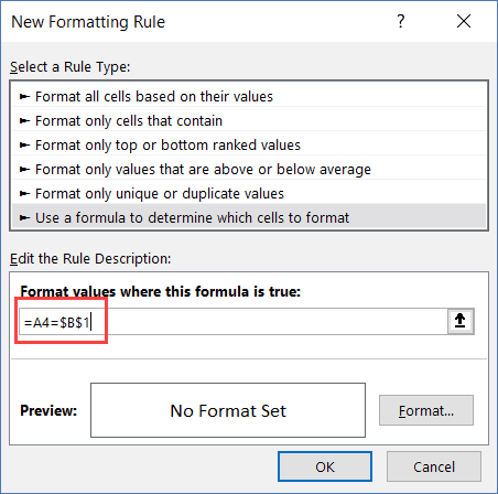 Search and Highlight Matching cells - formula