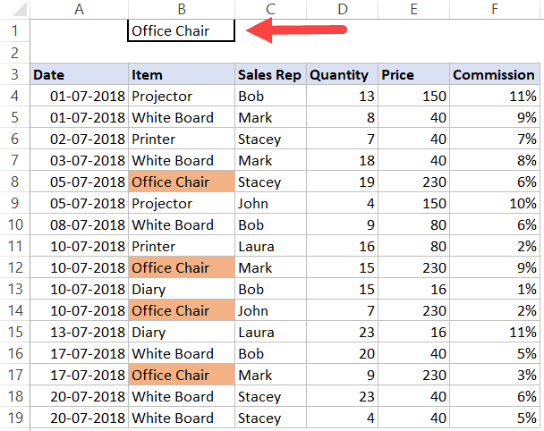 Search and Highlight Data in Excel (with Conditional Formatting)