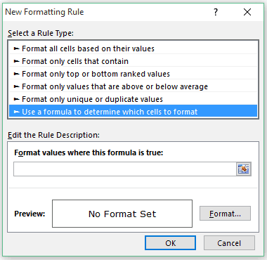 Highlight Every other Row in Excel using Conditional Formatting - Use a fromula