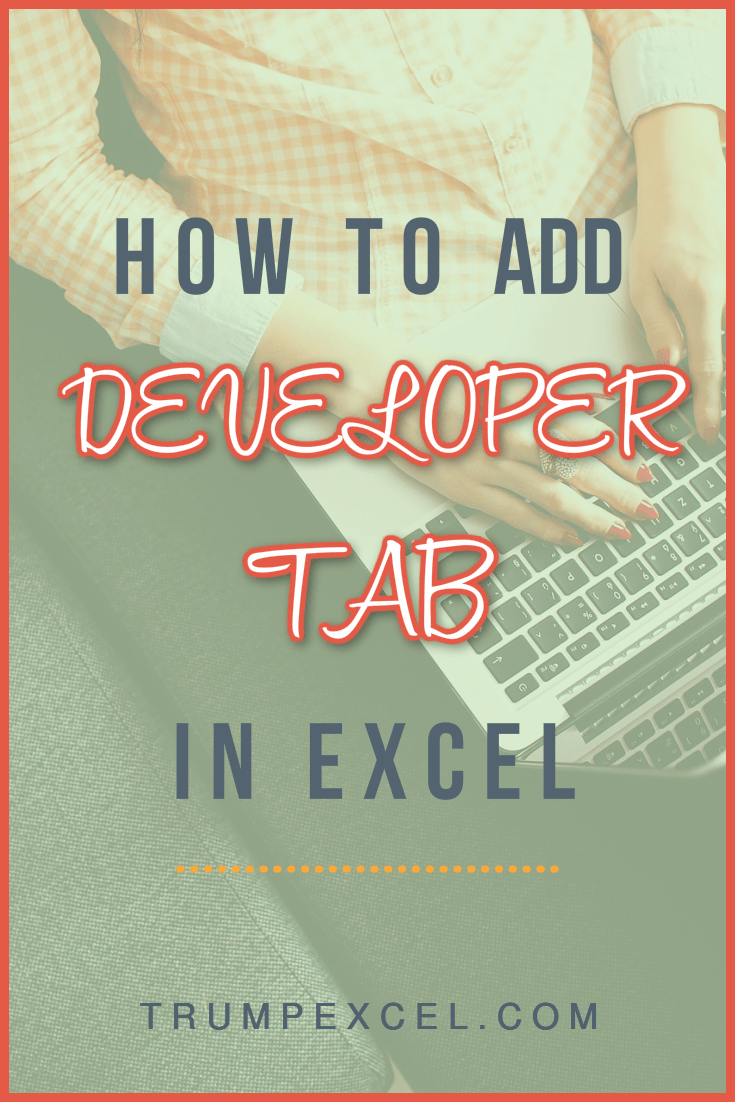 how-to-add-excel-developer-tab-in-the-ribbon