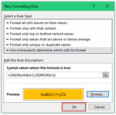 Conditional Formatting in Excel - Formula ok