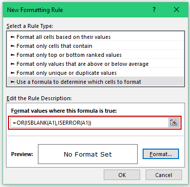 Conditional Formatting in Excel - Formula