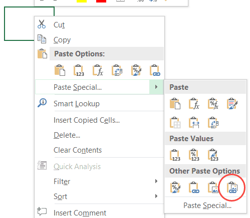Image Lookup in Excel - paste as linked picture