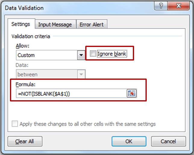 Fill Previous Cell First_Dialogue Box