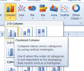 Multi-category Charts in Excel - Clustered Column Select
