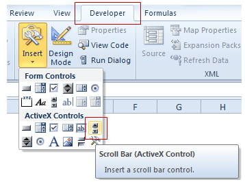 Adjust Excel Scroll Bar Maximum Value based on Cell Value