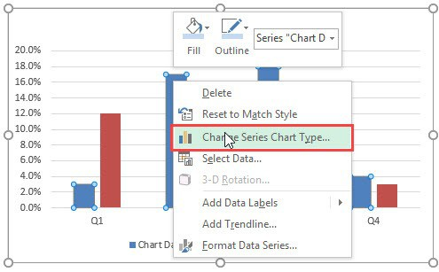 Planned vs Actual Chart in Excel - Change series chart type
