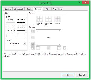 Excel Data Formatting - Data Formatting Border