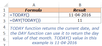 Excel DAY Function - Example 3