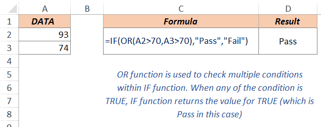 Excel Or Function - Example 5