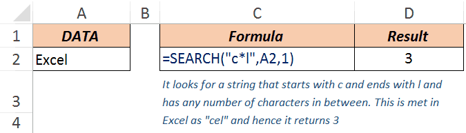 Excel Search Function - Example 4