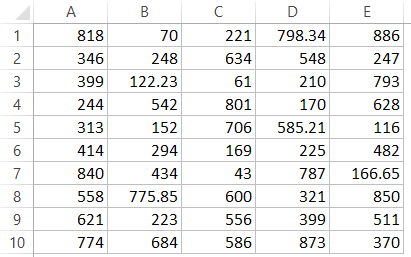 Highlight Numbers with decimals