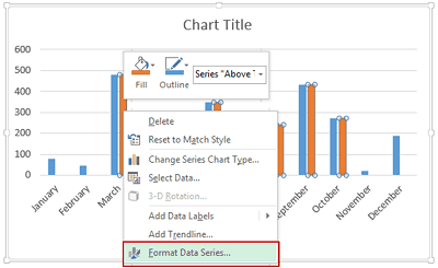 Dynamic Target Line in Excel - Select Format Series