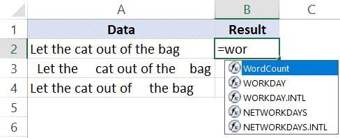 VBA Custom Formula shows up in Worksheet