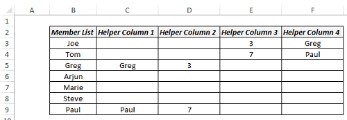 Multiple Drop-Down Lists in Excel - Backend Data