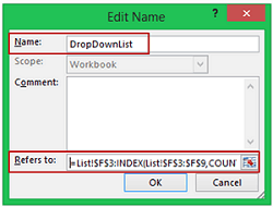 Multiple Drop-Down Lists in Excel - Dynamic Named Range