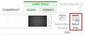 Gantt Chart in Excel - Select Data