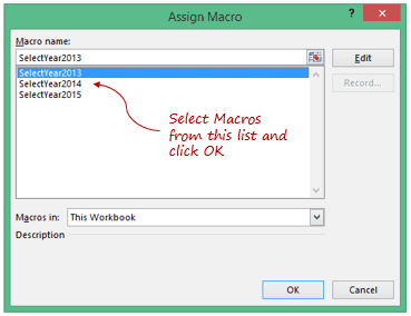 Highlight Data Points in Excel - Assign Macro