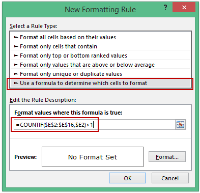 Find and Remove Duplicates in Excel - Formula in CF