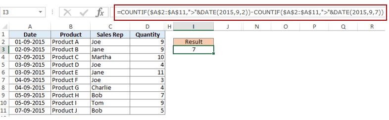 How to Use Multiple Criteria in Excel COUNTIF and COUNTIFS