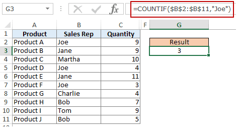 Using Multiple Text Criteria in Excel COUNTIF Function