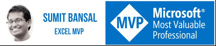 Sumit Bansal Excel MVP Trump Excel