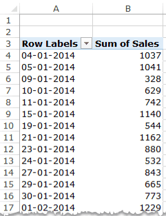 Group Dates in Pivot Tables in Excel - Pivot