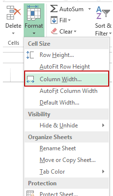 How to Unhide Columns in Excel - Column Width