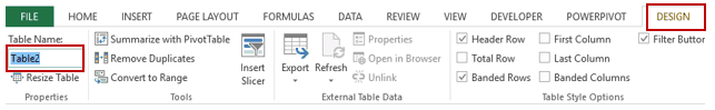 Pivot Cache in Pivot Table Excel - Change Table Name
