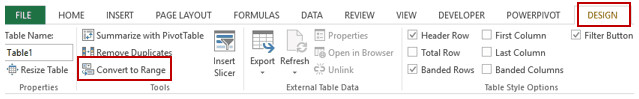 Pivot Cache in Pivot Table Excel - Convert to Range