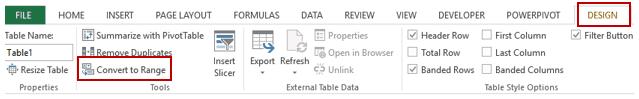 Pivot Cache in Pivot Table Excel - Convert to Range