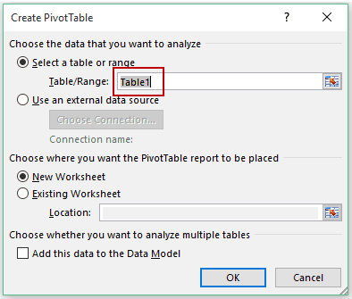 Pivot Cache in Pivot Table Excel - Table1