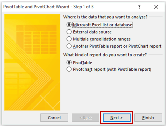 Pivot Cache in Pivot Table Excel - Wizard 1