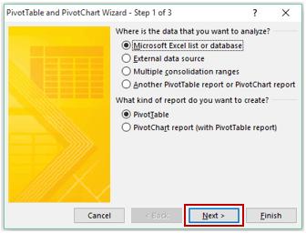 Pivot Cache in Pivot Table Excel - Wizard 1