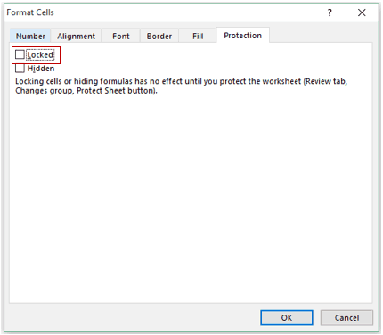 Insert and Use Radio Button in Excel - locked
