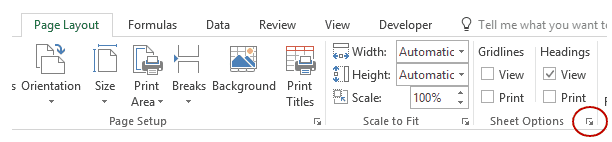 How to Print Comments in Excel - PageSetup