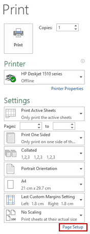 How to Print Comments in Excel - Print Preview PageSetup