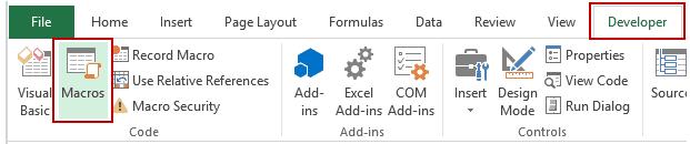 How to Run a Macro in Excel - Macro