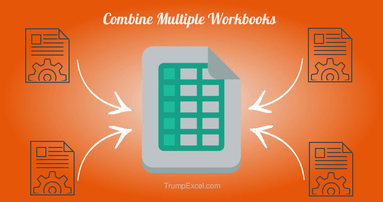 Combine Multiple Workbooks into One Excel Workbook - Image Orange