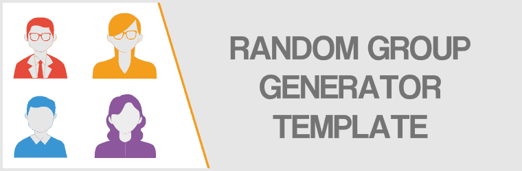 Random Group Generator Template - Cover