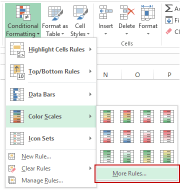 Heat Map in Excel - more options