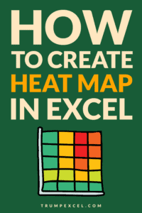 How to create a heat map in Excel