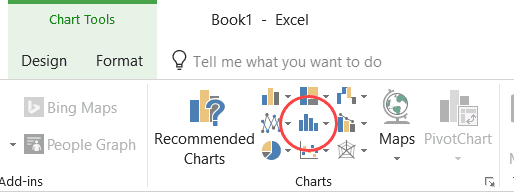 Insert Static Chart Option in the Ribbon