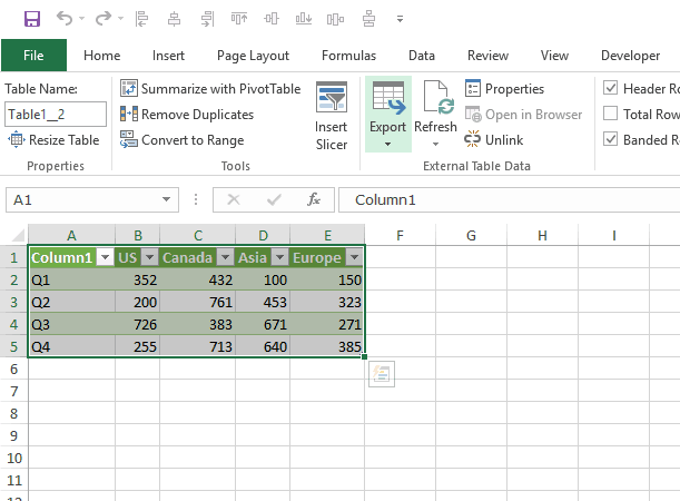 Transpose Data in Excel - power query result