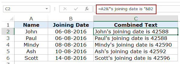 How to convert date to weekday name or month name in Excel?