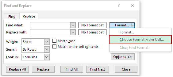 Find and Remove Hyperlinks in Excel - Numbers choose format