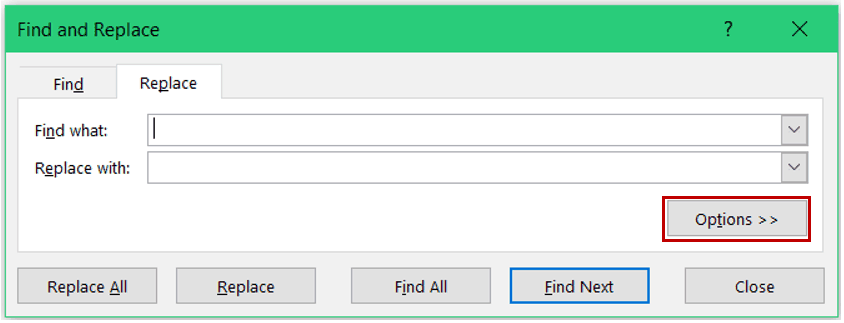 Find and Remove Hyperlinks in Excel - Options