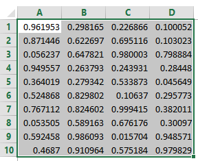 For Next Loop in Excel VBA random Numbers