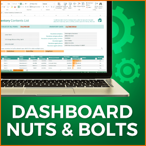 Excel Dashboard Image - Module 2 Nuts and Bolts